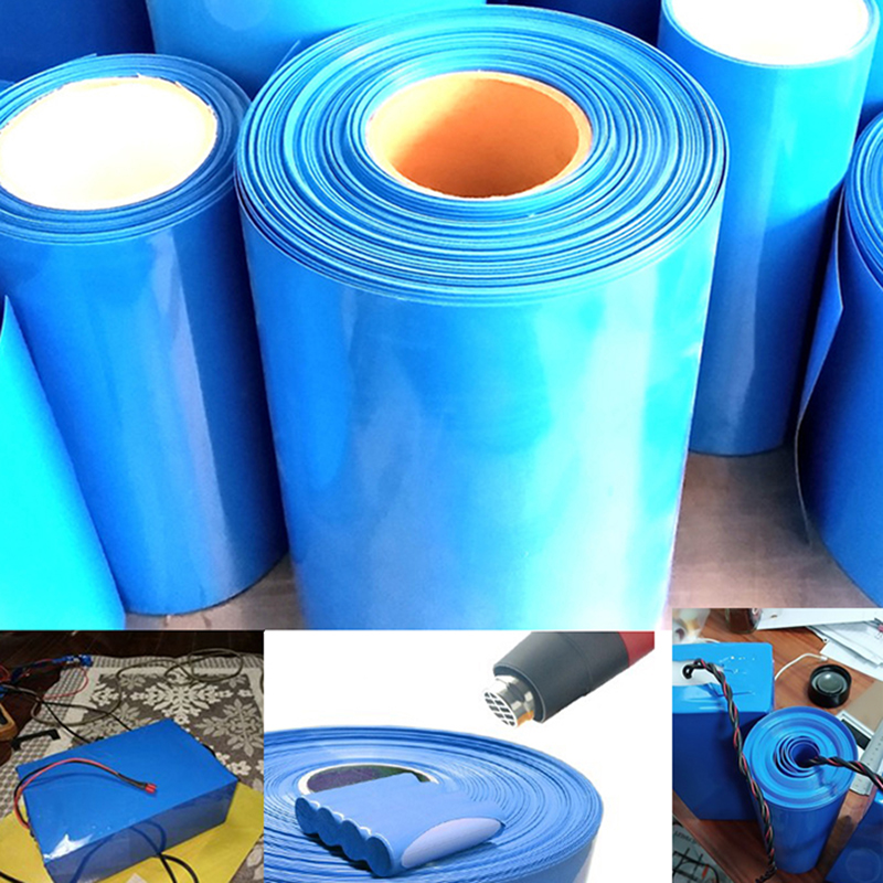Battery Heat House Shrink Tube Wrap Skin PVC Shrinkable Tubing Film Tape Sleeves