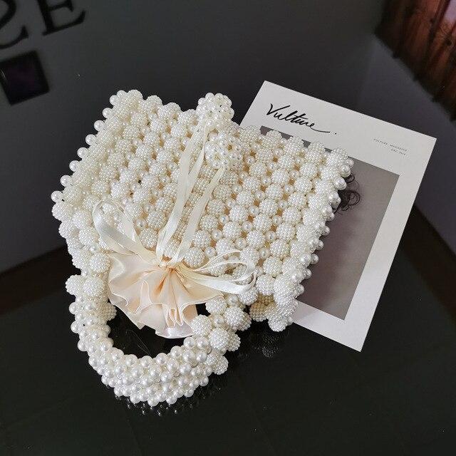 Pearl Beaded Women's Mini Handbag  2
