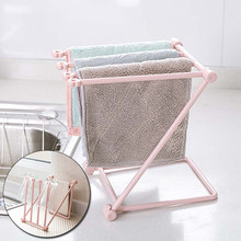 Kitchen Towel Rack Kitchen Dish Cloth Dishcloth Hanger Towel Storage Holder Cupboard Towel Sponge Holder Storage Rack Bathroom(China)