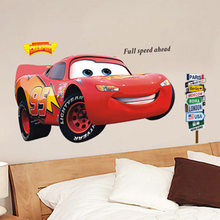 FIivdaHome Decoration Vehicle McQueen Yellow Cartoon, Childrens Cartoon Room, Bedroom, Cabinet Background Wall Paste