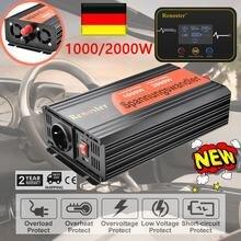 Onduleur solaire 1000/2000W, 12v, 220v, convertisseur d'onde sinusoïdale Pure, avec chargeur de commande sans fil, transformateur multi-protection