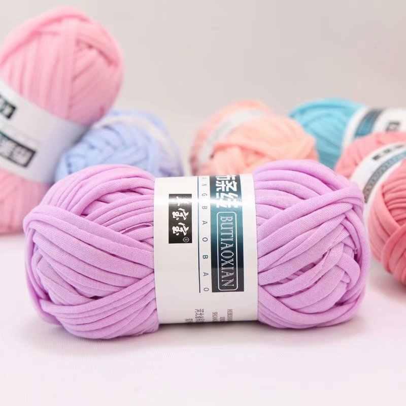 100 g/Lot couleur tissage fil fil doux Polyester tissé sac tapis bricolage tricoté à la main matériel