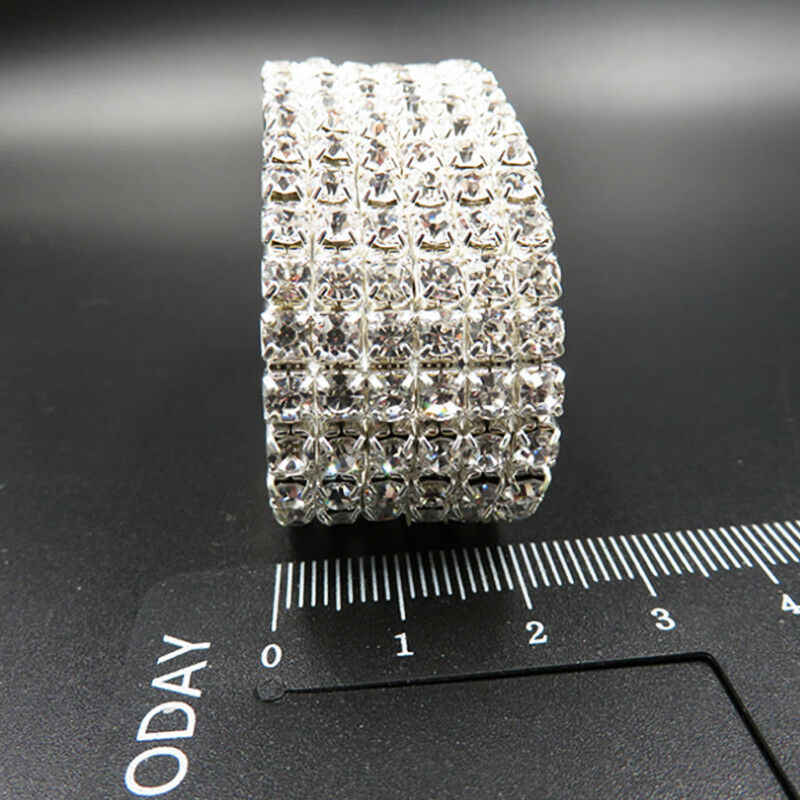 1 pieza pulsera brillo delicado Simple caliente Diamante de imitación plata encantador 1/2/3/4/5/ pulsera de cristal para boda de novia