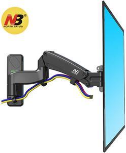 """Image 3 - Nb north bayou preto f300 suporte completo da tevê da montagem da parede do monitor do movimento com mola de gás ajustável para a tevê do monitor do lcd do diodo emissor de luz de 24 """" 35"""""""