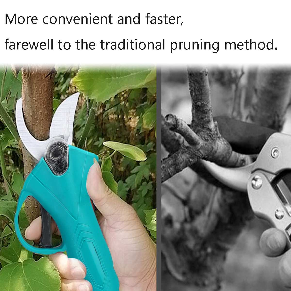 500W 88V Cordless Pruner Lithium-ion Pruning Shear Efficient Fruit Tree Bonsai Pruning Electric Tree Branches Cutter Landscaping