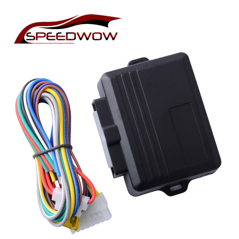 SPEEDWOW Car Power Window Roll Up Closer For 4 Doors Auto Close Windows Remotely Close Windows Black Car Styling