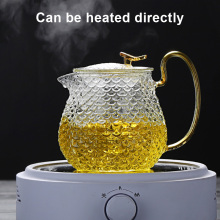 Tea-Maker Teapots And Glass Heat-Resistant Clear JS22 Thickened Household 3-Cup