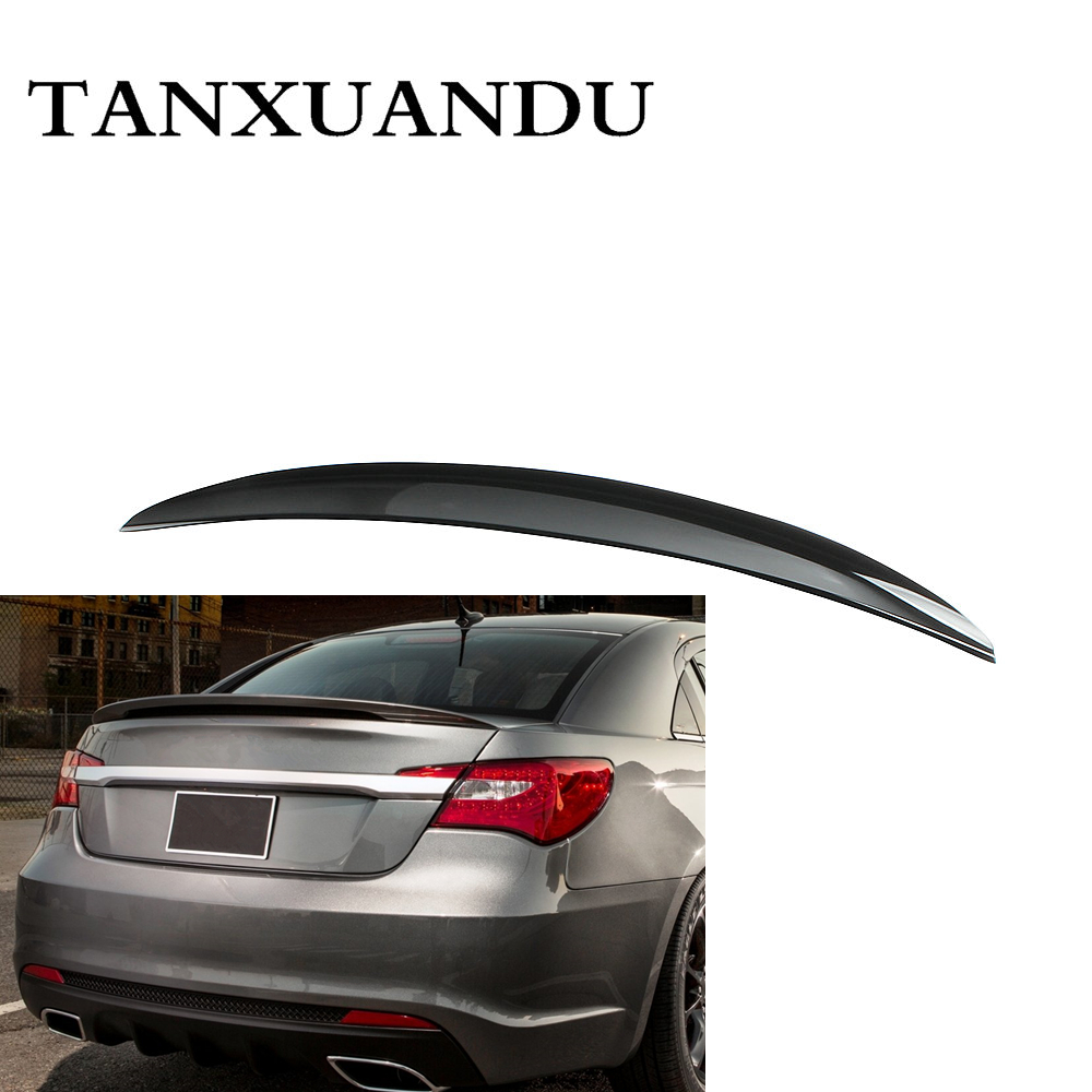 032610 Painted Gloss Black ABS Rear Trunk Lip Spoiler Wing Factory Style Fit For CHYSLER 200 2011-2014 High Quality