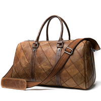 genuine leather men travel bags hand luggage travel weekend bag leather mens duffle bag fashion luggage bags large capacity 8883