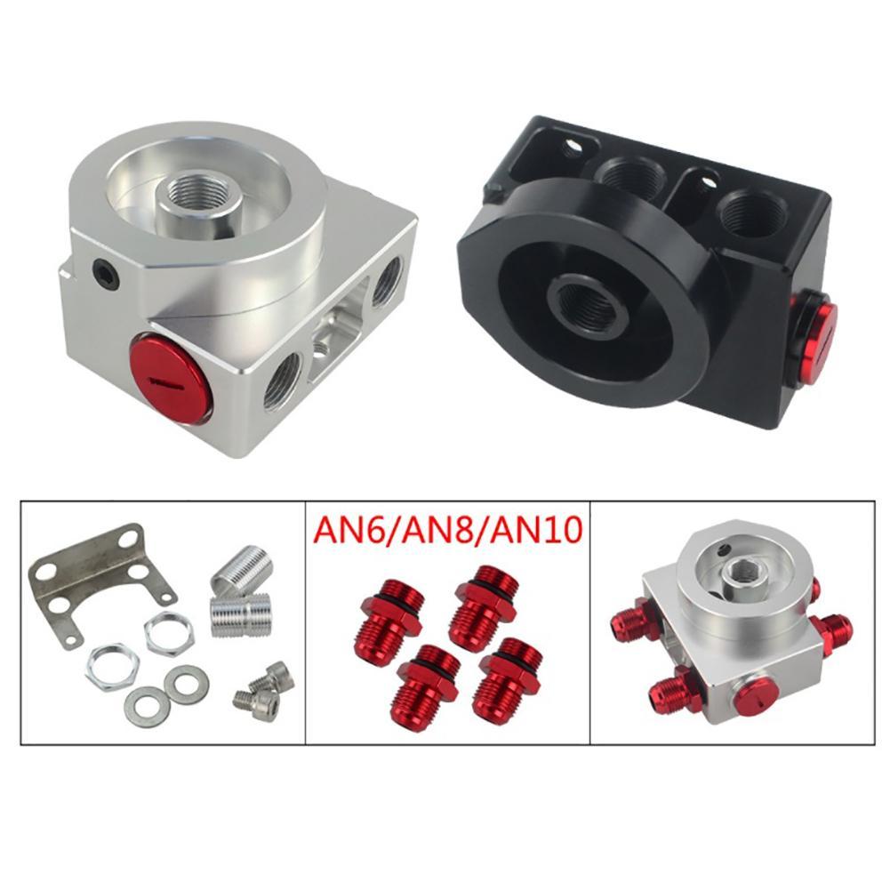 Adaptateur Sandwich pour filtre à huile de voiture avec filtre à huile bloc à distance avec Thermostat 1xAN8 4xAN6/AN8/AN10 JR5675