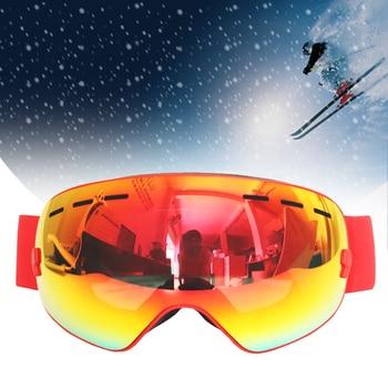 цена на BOLLFO Ski Glasses Double Layers UV400 Anti-fog Ski Goggles Snow Skiing Snowboard Motocross Goggles Ski Masks snowmobile Eyewear