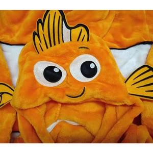 Image 5 - Anime Baby Nemo Clownfish Kigurumi piżama pajacyk dla noworodka Animal Onesie przebranie na karnawał Onepieces strój kombinezon zimowy