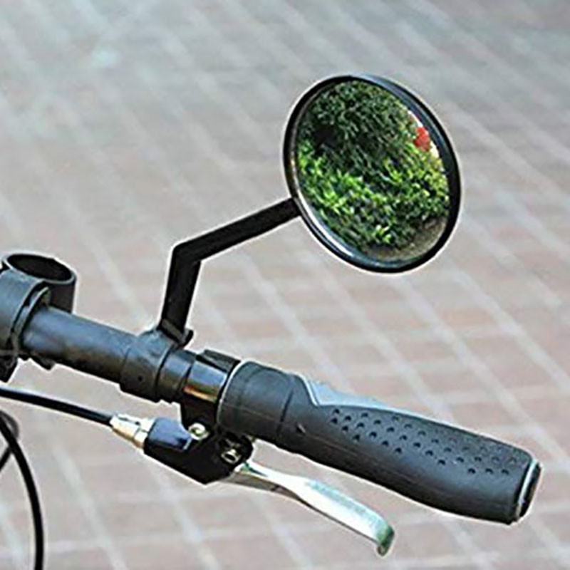 Black Convex Safety Rearview Mirror Car Mirror Put The Motorcycle Mountain Bike Bicycle Glass Side Mirrors For Easy Installation