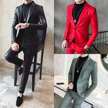 Новые мужские пиджаки куртка одна кнопка slim fit Пальто мыть