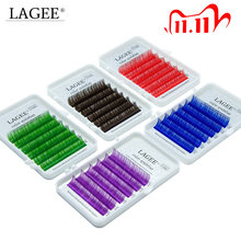 LAGEE Eyelash Extension Purple Blue brown Color Individual Eyelashes Premium Mink Soft eyelashes for building nagaraku line