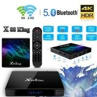 صندوق تلفاز BESTX88 King أندرويد 9.0 4G/128G S922X Hexa Core 4K HD 1080P H.265 جهاز فك التشفير 2.4G/5G صندوق بلوتوث ذكي واي فاي مزدوج 5.0|أجهزة استقبال|   -