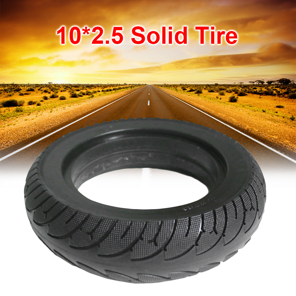 Black 10*2.5 Solid Tire 10 Inch For Electric Scooter Folding E-bike Widened Tyre Electric Scooter Replace Parts Accessories