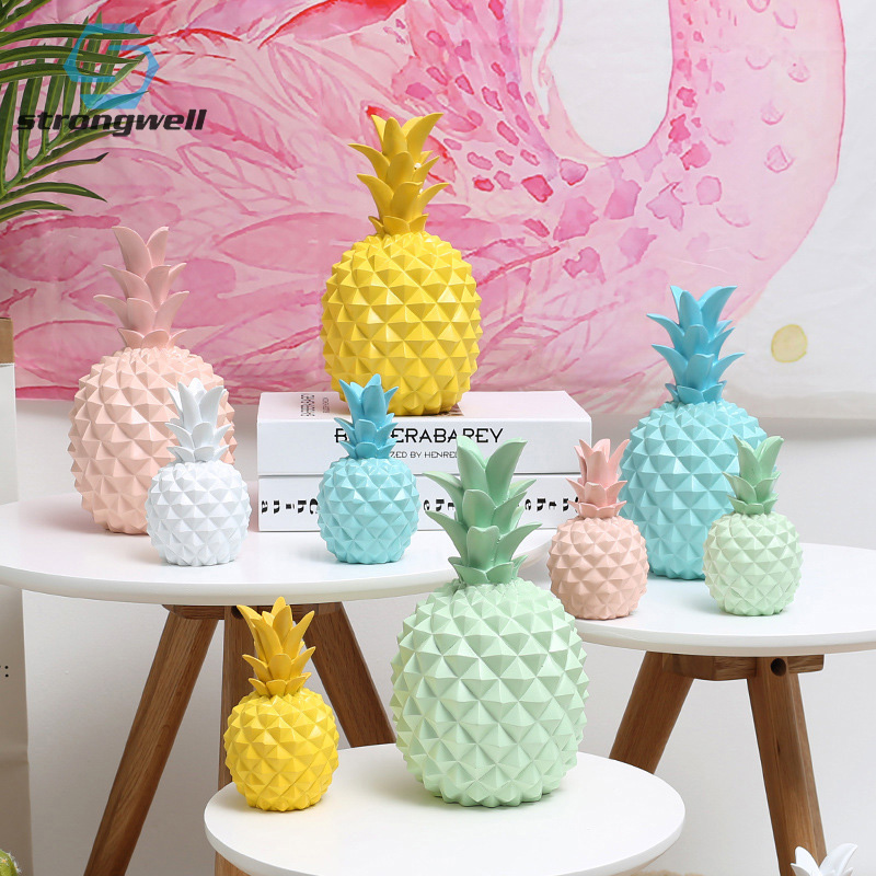 Strongwell Nordic Ins Pineapple Statue Living Room Dining Room Modern Minimalist Creative Figurine Home Decoration Props Gift