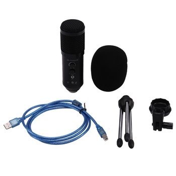 Professional MK-F500 USB Condenser Microphone Computer Game Competitive Microphone Live Recording Chat Microphone for Live PC La