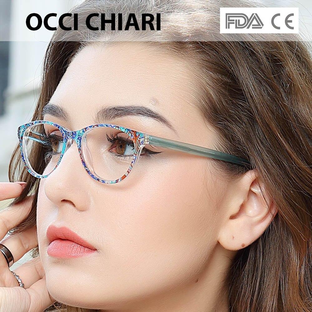 OCCI CHIARI Clear Glasses Frame For Girls Child Kid Anti-blue Light Eyeglasses Brand Designer Acetate Computer Eyewear W-CANZI