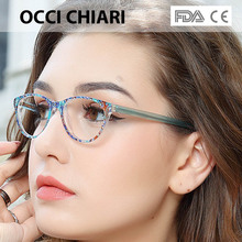 OCCI CHIARI Clear Glasses Frame For Girls Child Kid Anti blue Light Eyeglasses Brand Designer Acetate Computer Eyewear W CANZI