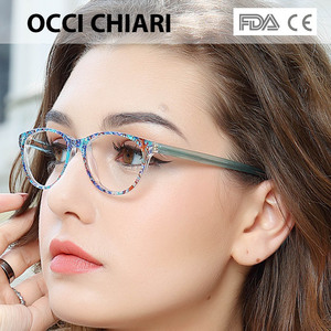 Image 1 - Occi Chiari Clear Glazen Frame Voor Meisjes Kind Kid Anti Blauw Licht Brillen Merk Designer Acetaat Computer Eyewear W CANZI
