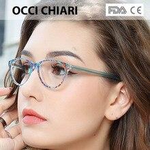 Occi chiari claro óculos quadro para meninas criança criança anti azul óculos de luz marca designer acetato computador eyewear W CANZI