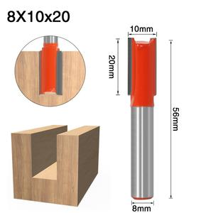 Image 2 - 1 قطعة 8 مللي متر عرقوب 2 الناي مستقيم بت أدوات النجارة راوتر بت للخشب التنغستن كربيد endmill قاطعة المطحنة