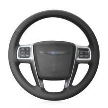 For Chrysler 300C 200 car steering wheel cover black artificial leather antiskid for chrysler 300c 200 car steering wheel cover black artificial leather antiskid