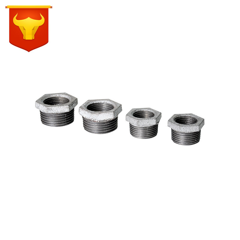 Galvanized Malleable Iron Firefighting Pipe Fitting And Outside Threaded Thread Straight Connector Reducing Variable Diameter Ad