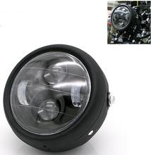 High Low Beam H4 LED Front Headlight Motorcycle Chopper Cafe Racer CG125 GN125 Lamp headlight Light Bulb universal led angel eye projector daymaker high low beam headlight cruiser chopper cafe racer old school bobber touring