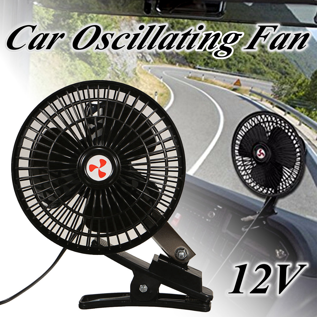 12V 6 Inch/ 10 Inch Car Electric fan 2 Speed USB Portable Vehicle Auto Car Fan Auto Clip On Cooling Fan Car Interior Accessories