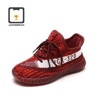 JAKOBBEAR Kids Mesh Shoes for Outdoor Girls Boys Children Sports Sneakers Ultra Breathable Black Gray White Red