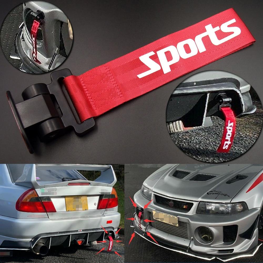 2Pieces Front Rear Bumper Racing Tow Hook Aluminum for Mazda 3 Black+Blue