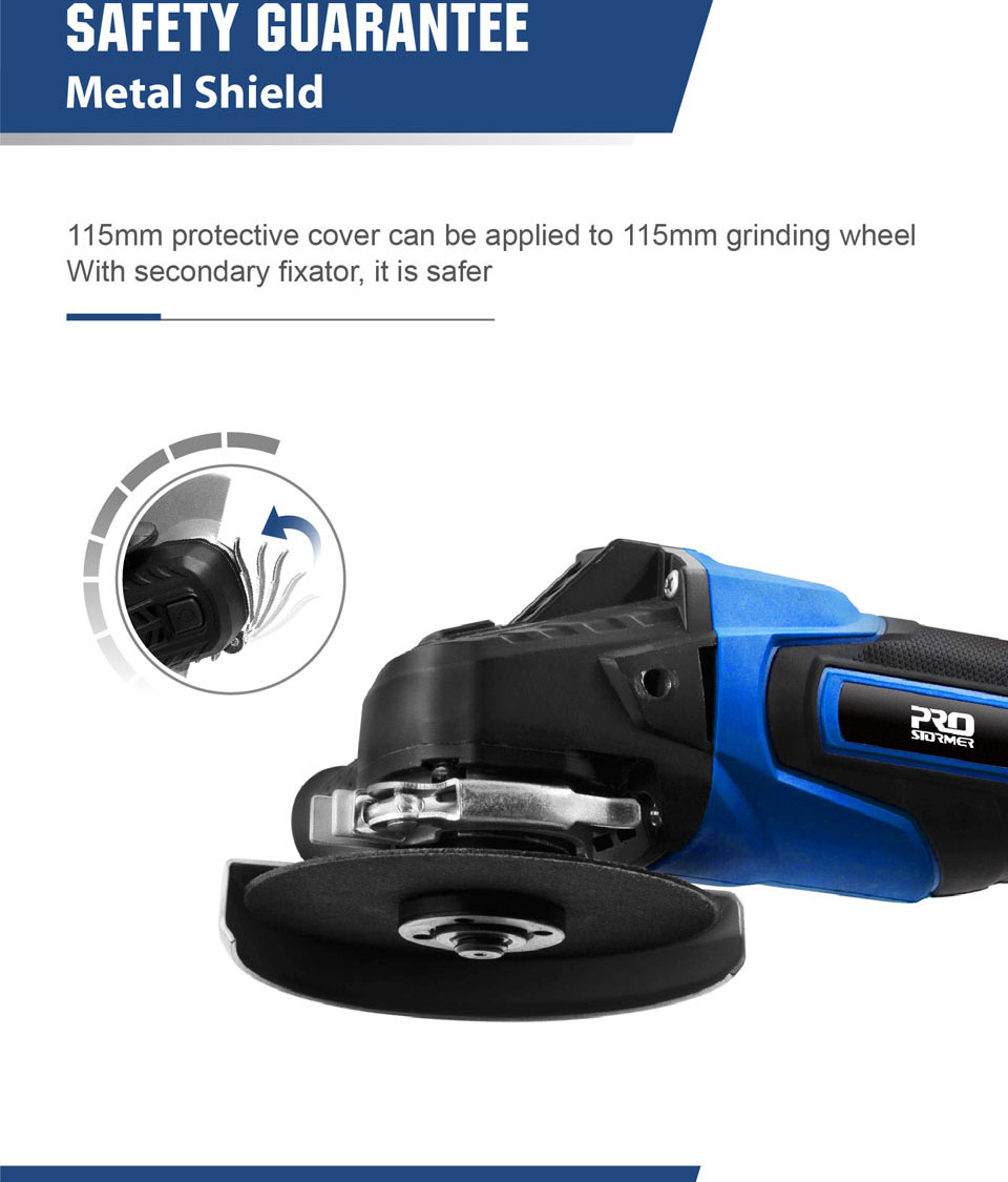 Safety Guarantee of PRO STORMER Cordless Angel Grinder