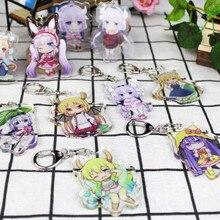 Figure-Toys Keychain Dragon Maid San Chi Kobayashi Miss No 1pcs Key-Ring Konna Creative