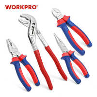 WORKPRO 4PC Plier Set Groove Joint Pliers Diagnoal Pliers Water Pump Plier Wire pliers