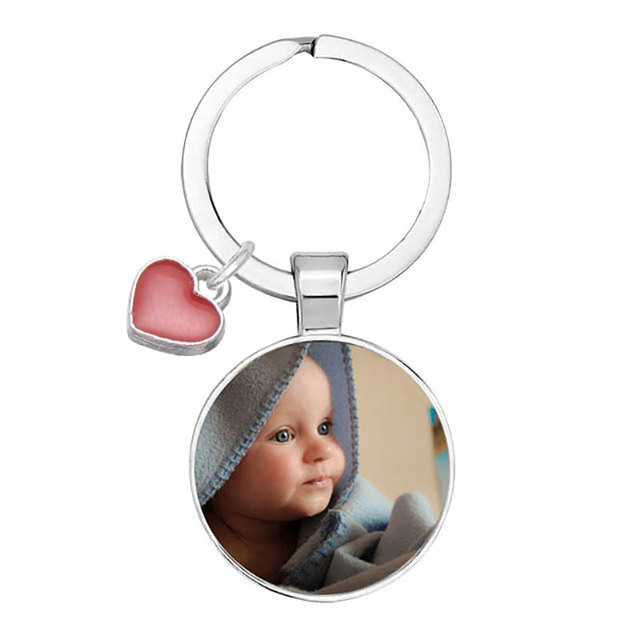 Personalized Photo Pendants Custom Keychain Photo Of Your Baby Child Mom Dad Grandparent Loved One Gift For Family Member Gift 1