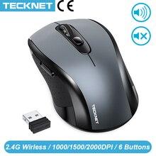 TeckNet 2.0 USB kablosuz fare bilgisayar 2.4G kablosuz alıcı fareler 2000DPI 10M süper bilgisayar için fare kablosuz PC dizüstü bilgisayar
