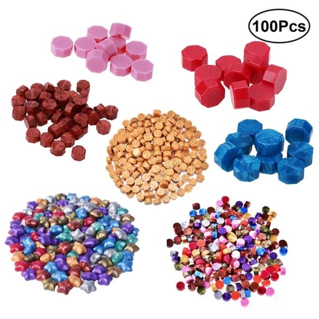100Pcs Vintage Sealing Wax Tablet Pill Beads Envelope Wax Seal Sticks for Envelope Wedding Wax Seal Ancient Sealing Waxs