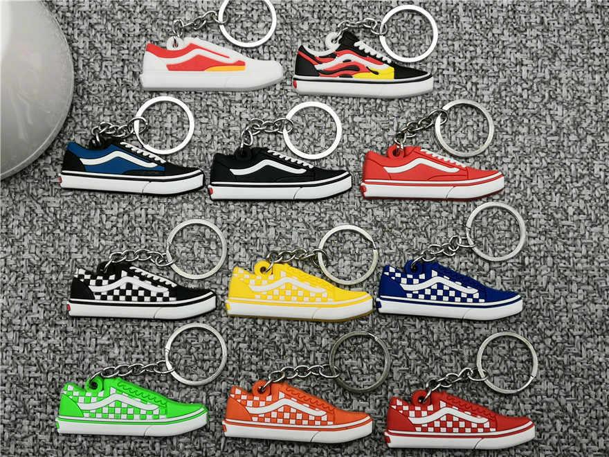 New Bonito Mini Silicone Sapatos Mulher Chaveiro Charme Saco Max 97 Para Homens Crianças Presentes Chave Anel Acessórios Ar Sneaker chave Da Cadeia de calçados