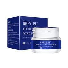 Breylee dentes whitenng pó branco brilhante pérola dente pó 30g suave e delicado para limpar a boca