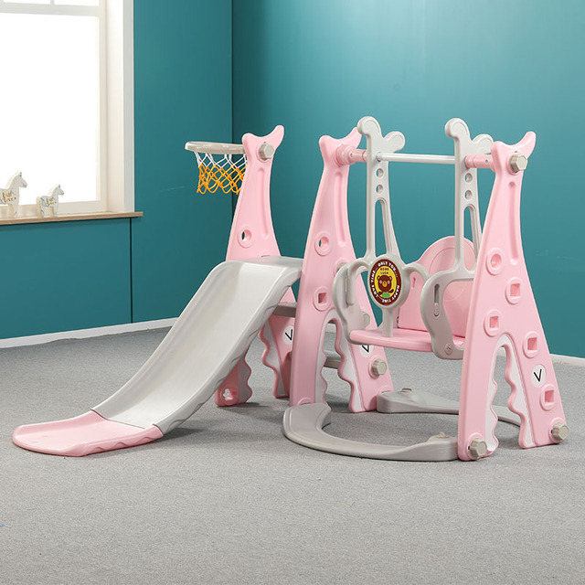 Slides And Swing Combination Children's Indoor Home  Infant Large Amusement Park Combination Toy 3 in 1 Play Toys Baby Slide 2