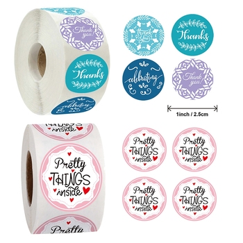 500pcs Creative Thank You Pretty Things Inside Label Sticker Gift Bag DIY Decoration Stationery Stickers jwhcj creative arts font thank you