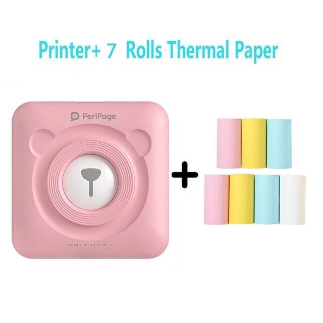 Peripage Mini Thermal Laber Printer Wireless Bluetooth Portable Pocket Printer Sticker Paper Photo Printing Android Ios Printers 2