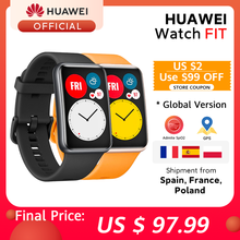 In Stock Global Version HUAWEI Watch FIT SmartWatch Quick-Workout Animations Blood Oxygen Watch FIT 10 Days Battery Life