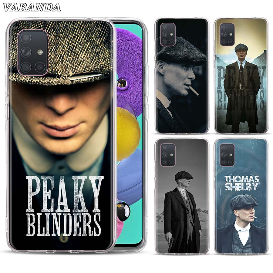 Case For Samsung Galaxy A10 A10e A20 A40 A50 A51 A71 J4 J6 J8 A6 A8 A7 A9 2018 Peaky Blinders Man Print Rubber Phone Cover Cases