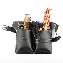 Hoge Kwaliteit Pu Leer Kappers Gereedschap Tas Verstelbare Salon Kapper Heuptas Scissor Pouch Tas Voor Salon Styling Tools