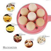 Многофункциональный бытовой мини миксер яйцо омлетный блин жареные сковорода для стейка с антипригарным покрытием вареных яиц котла пароход 350W 220V яйцеварка