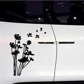 20X14cm Beautiful Flowers Car Vehicle Body Window Reflective Decals Sticker Decoration 1